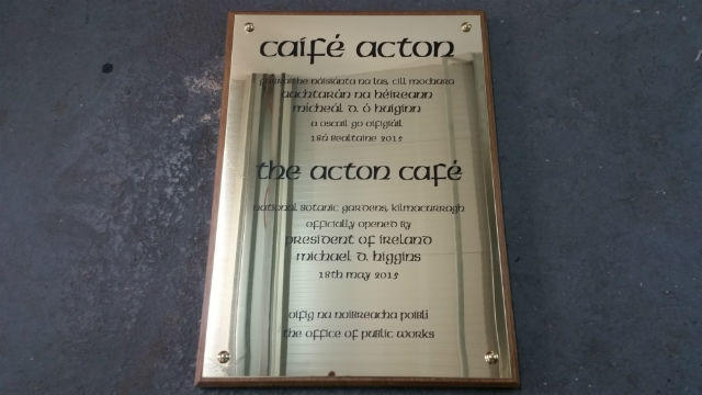 Brass Plaque with Wooden Mount