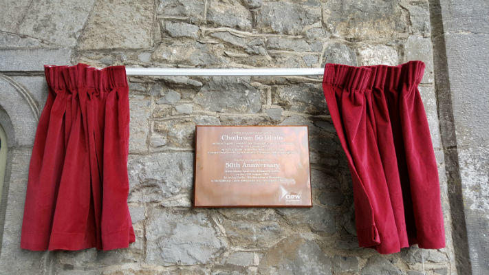 Bronze Plaque with Red Curtain - Official Opening Plaque
