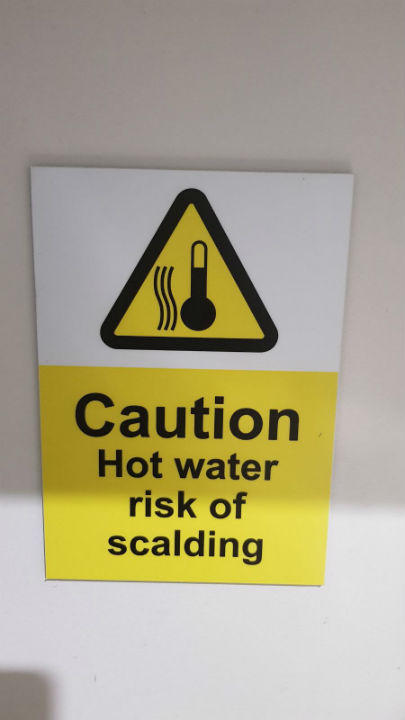 Safety Signs - Caution Hot Water Signs