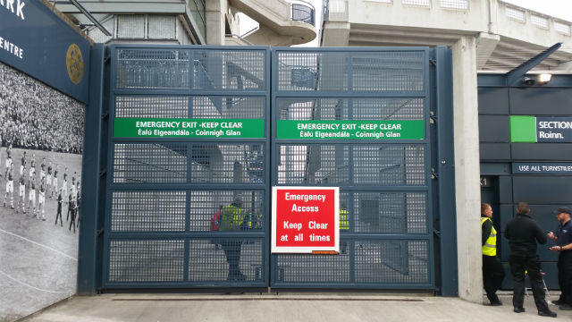 Safety signs Croke Park