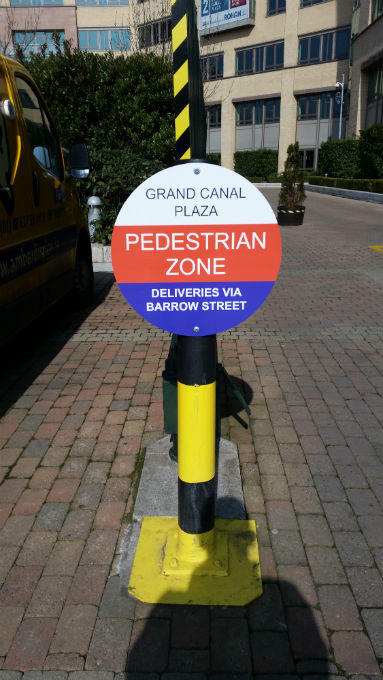 Outdoor Free Standing Safty Display Signs Dublin