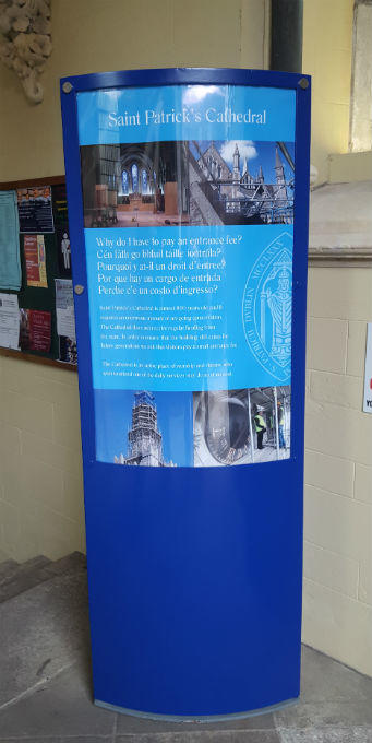 Free standing display stand - St Patricks Dublin