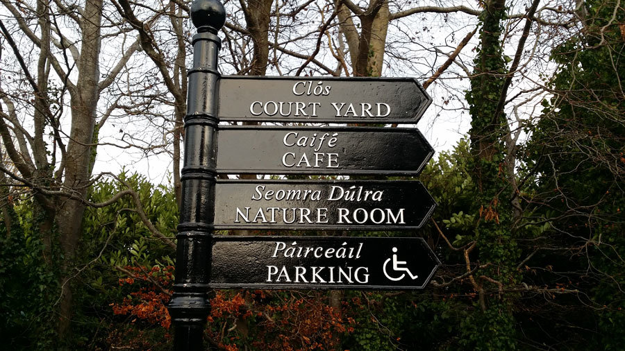 Heritage Finger Post Sign Cast Metal Embossed Painted Black and White