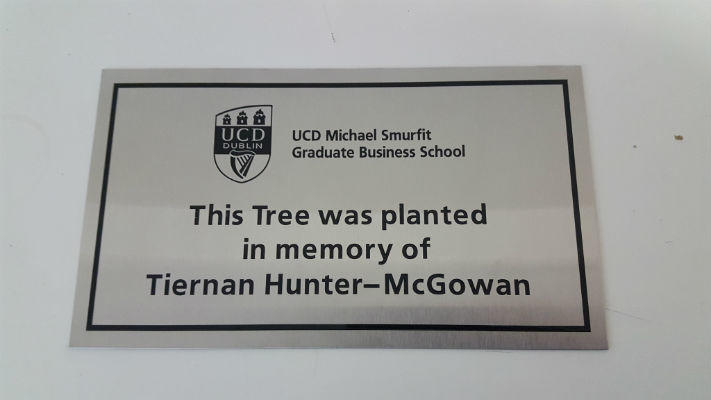Memorial Plaque UCD - Sign Company Dublin