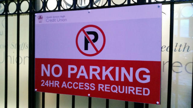 No Parking Signage - Health and Safety Signage Dublin