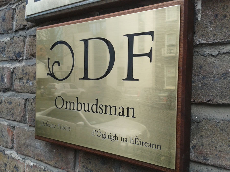 Polished Brass Plaque - Signs Dublin