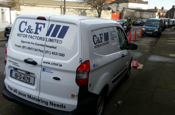 Vehicle Graphics, Van Graphics, Logo & Contact Details