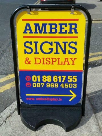 Pavement Signs Swing Signs with Weighted Based Dublin
