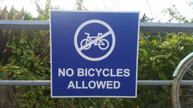 No Parking Bicycles Sign
