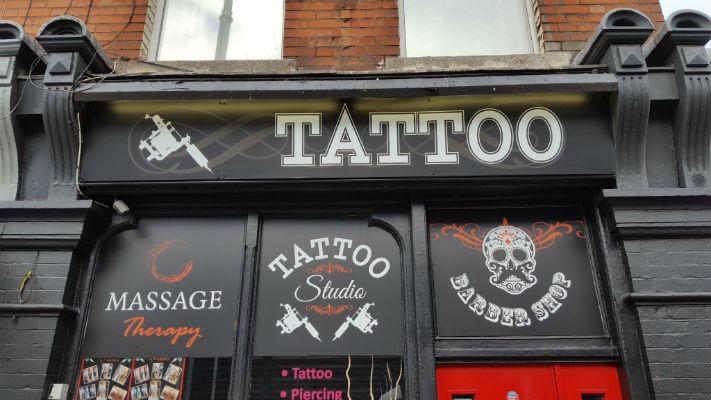 Shop Front Signage - Dublin Tattoo Shop