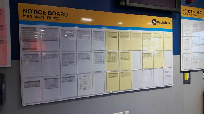 Notice Boards - With Perspex Dividers - Dublin Bus
