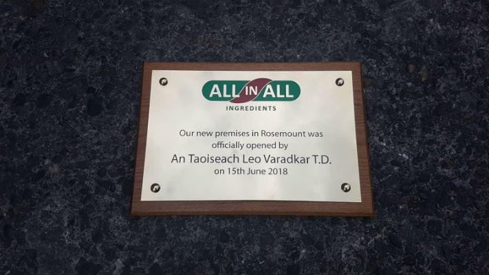 Stainless Plaques - Official Opening Plaque