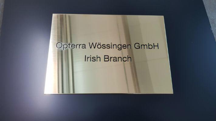 Business Plaques - Corporate Plaques - Brass Plaques - Dublin