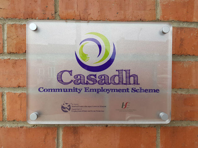 Frosted Perspex Plaques - Business Signage