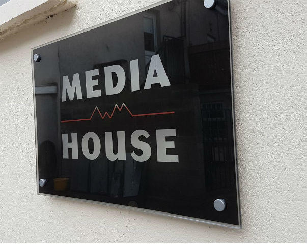 Wall Mounted Polished Perspex Plaque