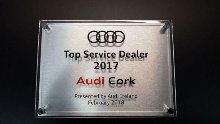 Stainless Steel Plaque With Perspex Cover - For Audi Ireland