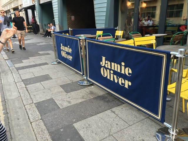 Cafe Barriers - Pub Barriers - Custom Made Barriers