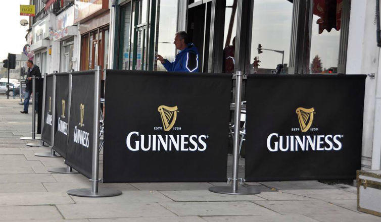 Cafe Banners - Pub Barriers Dublin