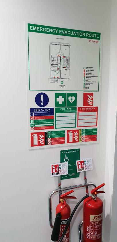 Photoluminescent emergency evacuation route signs