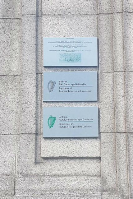 Brushed Aluminium Plaques at Government Buildings