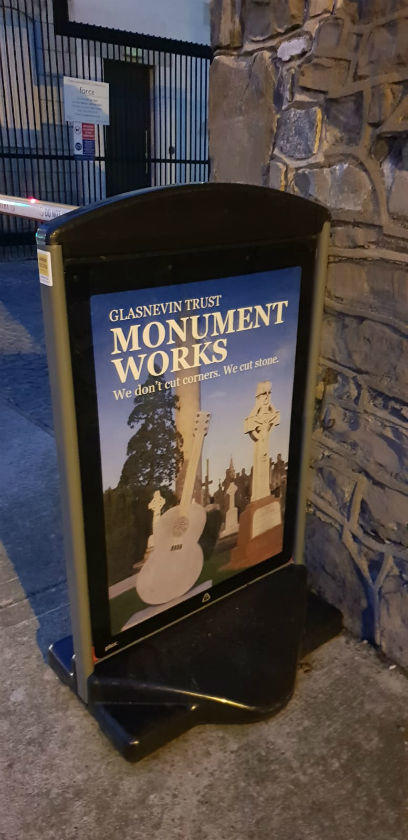 Pavement Signs - Double sided easy to change images weather resistant