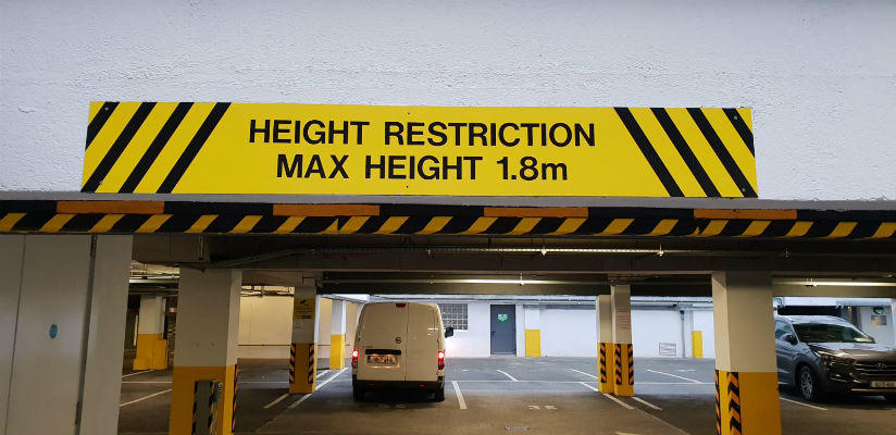Max Height Restriction Signs