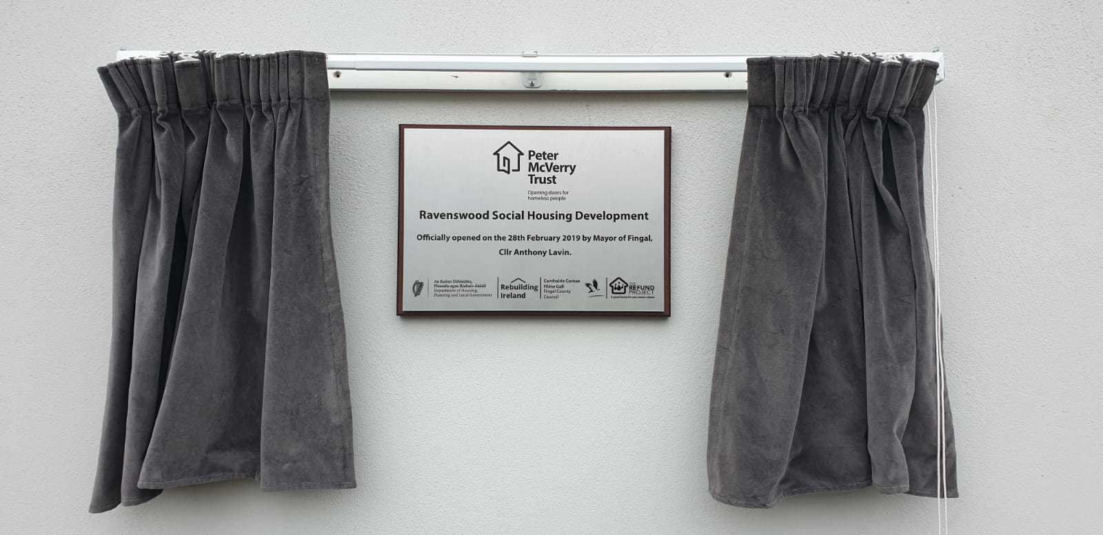 Official Opening Plaque Peter McVerry