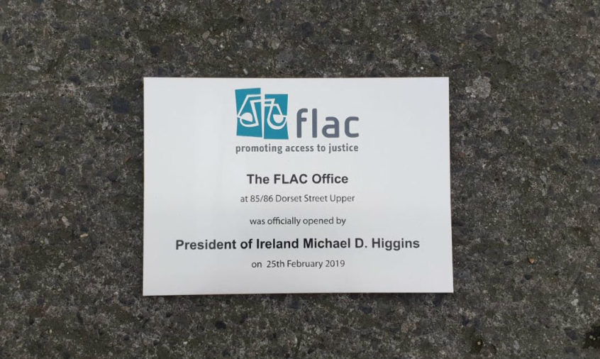 Stainless Steel Plaque - Official Opening Plaque by President Michael D Higgins