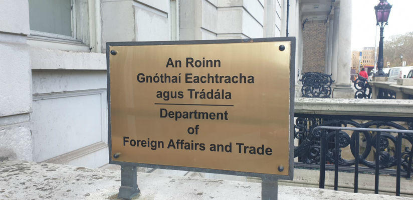 Brass Plaque Department of Foreign Affairs Dublin