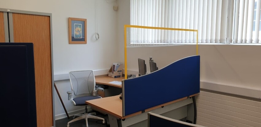 Perspex Screen for offices