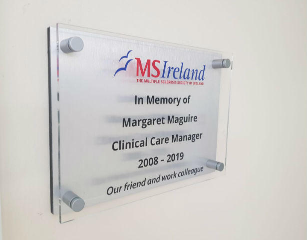 Brushed Aluminium plaque with Perspex Front