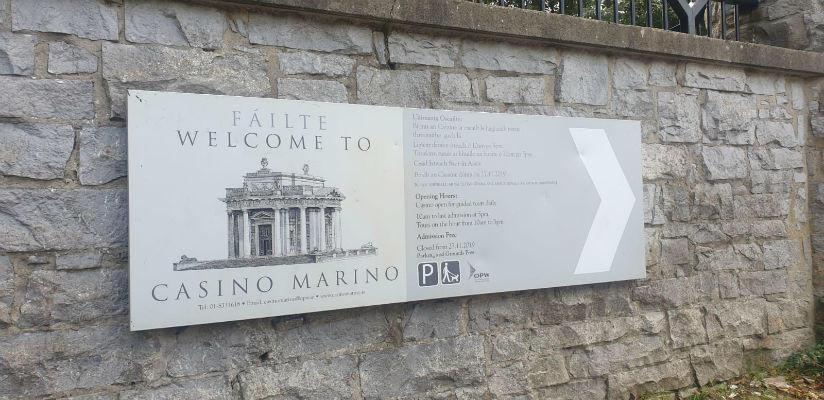 Casino Marino Welcoming Signage
