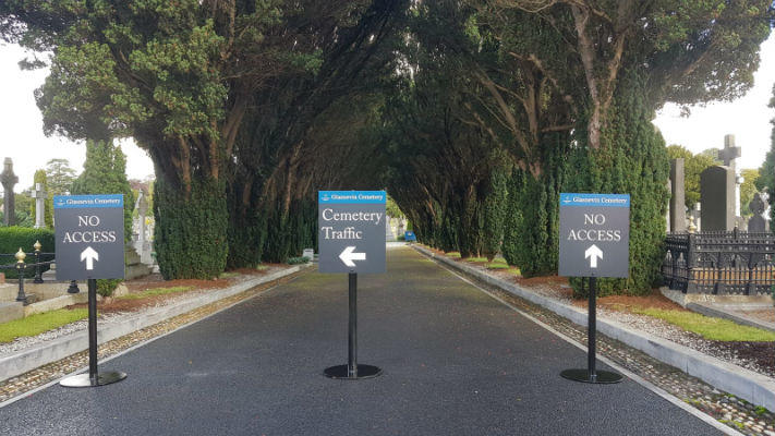 Heavy Duty Pavement Signs Glasnevin Cemetery