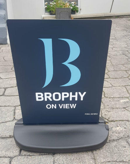 Pavement Sign With Weighted Base