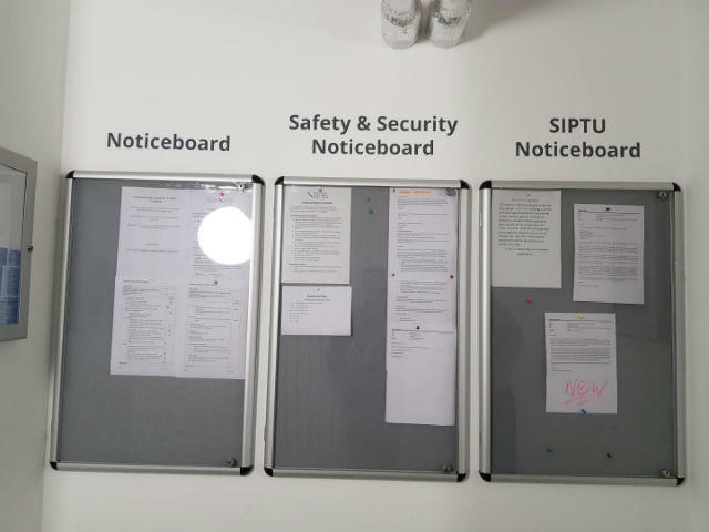 Notice Boards at SIPTU offices
