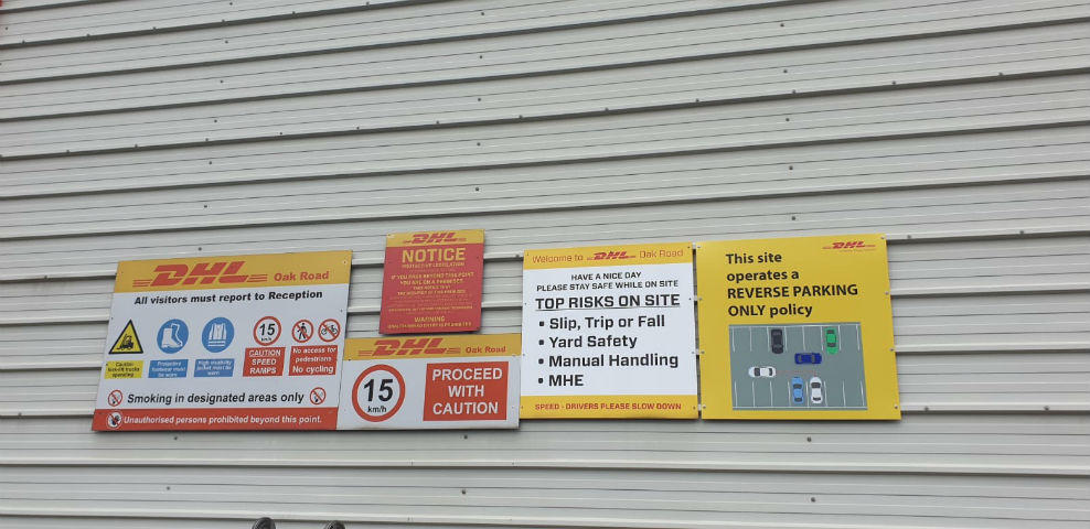SAFETY SIGNAGE DHL Dublin