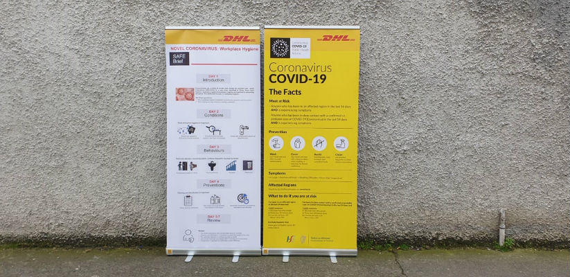 Covid 19 Pop Up Banners