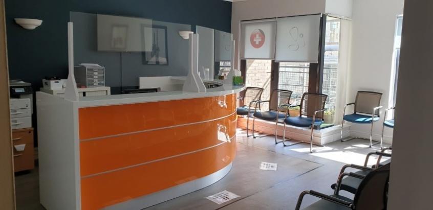 Perspex Screens IFSC Medical Centre