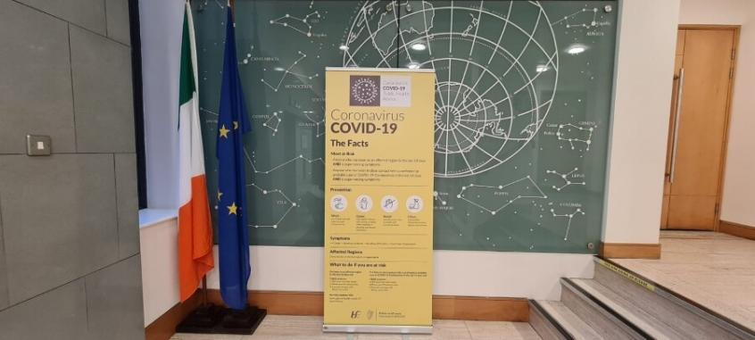 Covid 19 Pop Up Banner Government Buildings